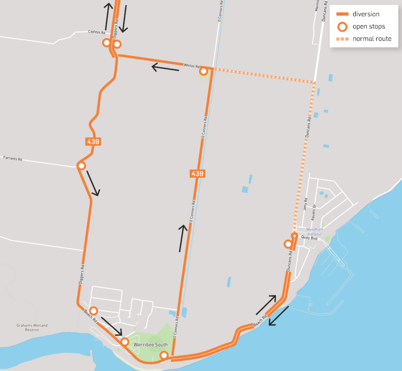 20265 CDCV Rte439 Diversion Map