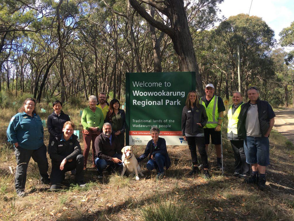 3rd March 2021 site visit to Woowookarung park with partners from Parks Victoria, Bigger Hearts Dementia Alliance Ballarat, Dementia Australia, CMV Bus, and CDC Ballarat)