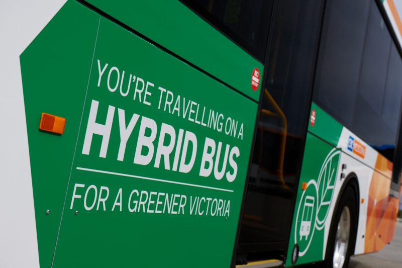 Hybrid Bus Operated By CDC Melbourne