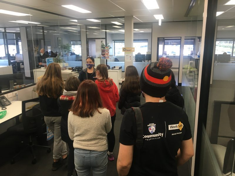 Young people from the Nallei Jerring Koori Youth Program tour CDC Victoria Head Office