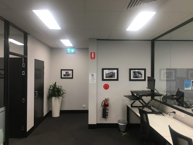 CDC Head office lights and desks