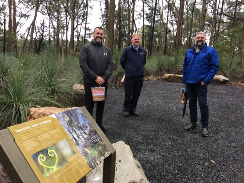 People In The Dementia Friendly Natural Parkland And Sensory Trail