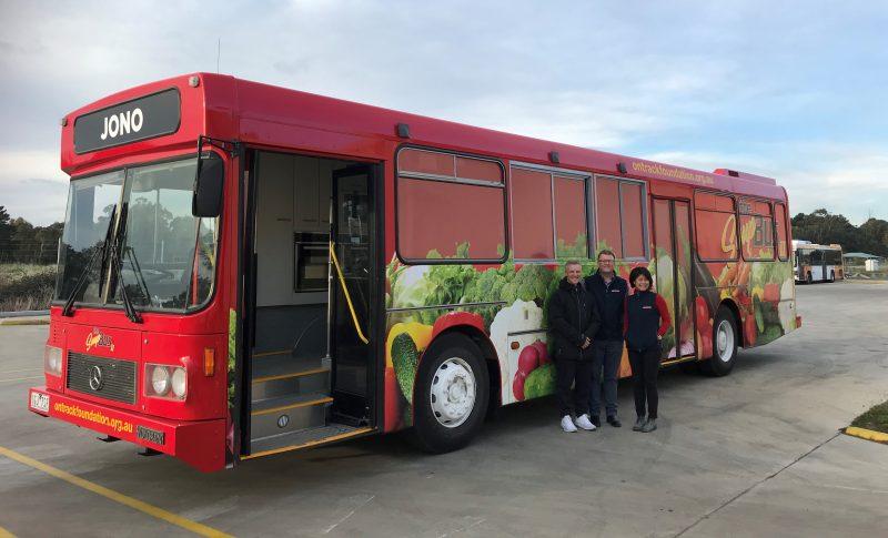 People Standing In Front Of Ballarat Soup Bus