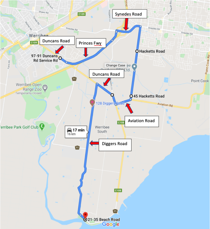 Route 439 Outbound To Werribee South