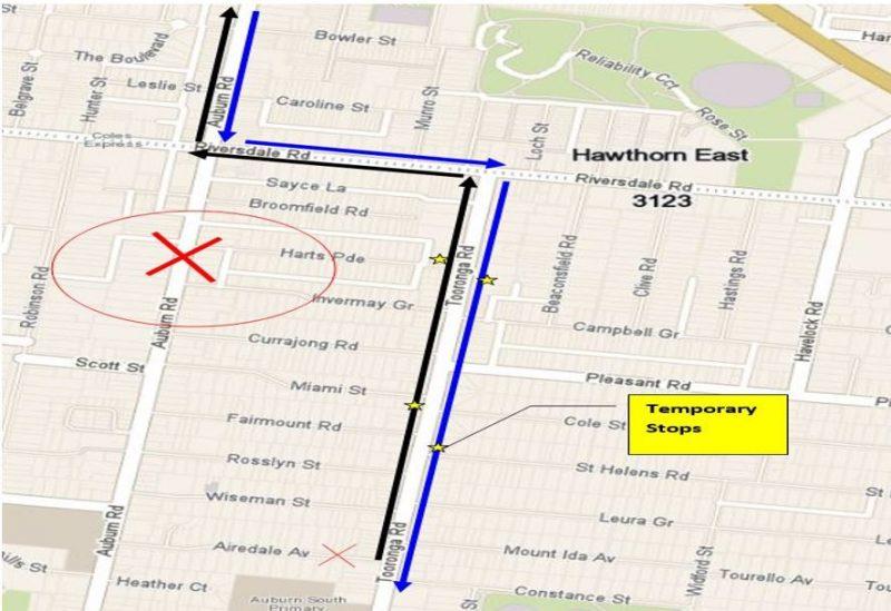Route 624 Auburn Road Closure