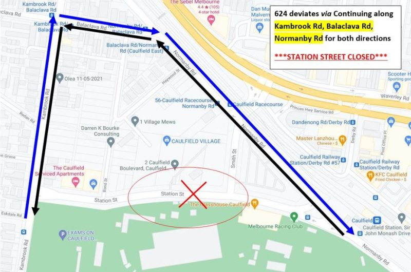 Route 624 Station Street Closure