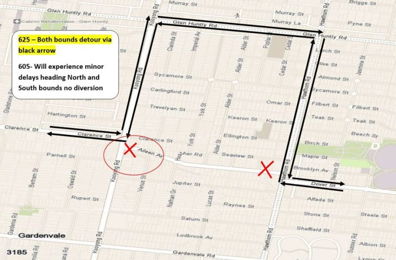 Route 625 Aileen Avenue Closure