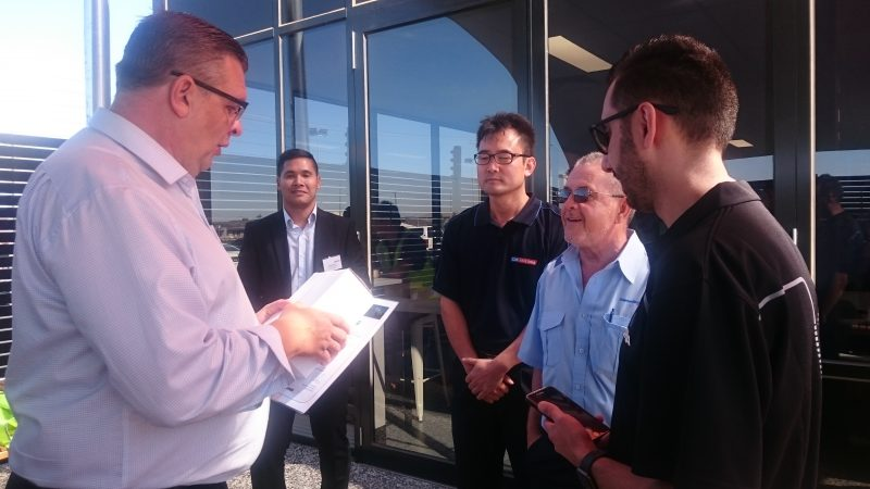 Drives at CDC Victoria receive their Scania Optimise training certificates
