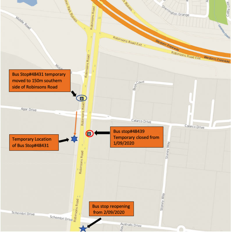 Temporary Bus Stop Closure Affecting Route 400