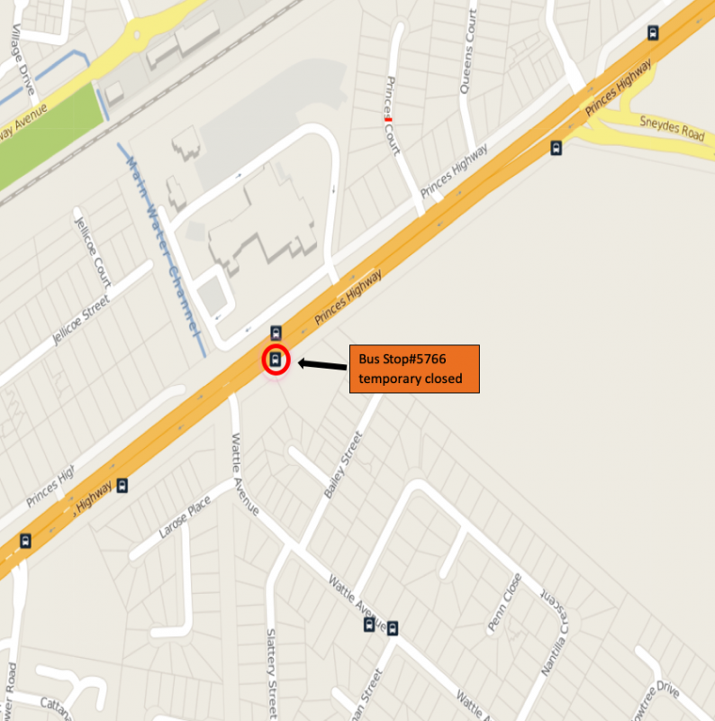 Temporary Bus Stop Closure Affecting Route 153